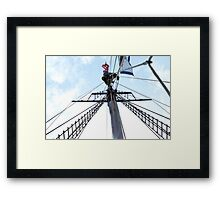 Mast Climber Framed Print
