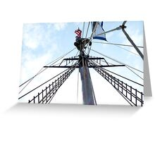 Mast Climber Greeting Card