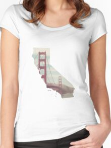 San Francisco, California Women's Fitted Scoop T-Shirt