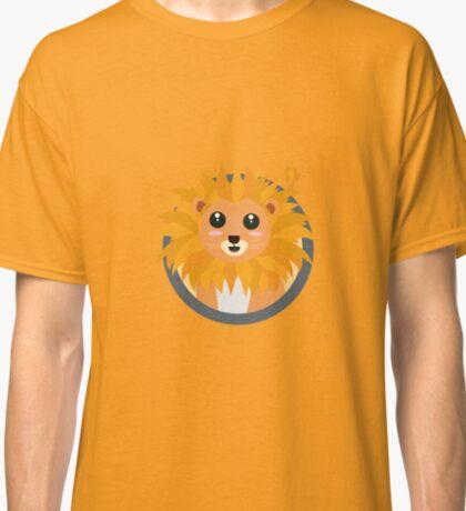 Kawaii lion with circle Classic T-Shirt
