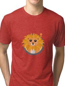 Kawaii lion with circle Tri-blend T-Shirt
