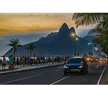 Ipanema Sidewalk Rio de Janeiro Brazil Photographic Print