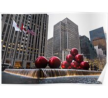 A Christmas Card from New York City - Fifth Avenue Sophistication Poster