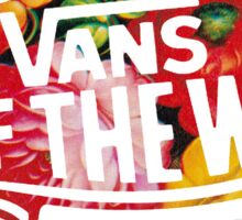 "Vans ""Off the Wall"" - Flower Pattern Sticker"