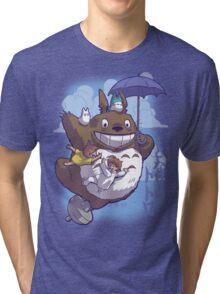 Totoro in Flight Tri-blend T-Shirt