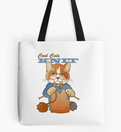 Cool Cats Knit, Calico Tote Bag