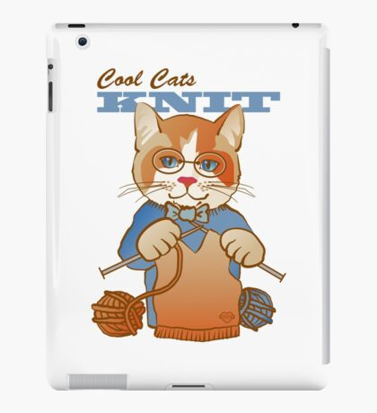 Cool Cats Knit, Calico iPad Case/Skin