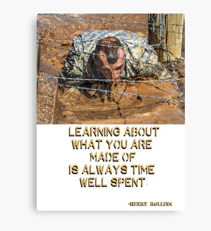 Know Thyself - Henry Rollins Quote Canvas Print