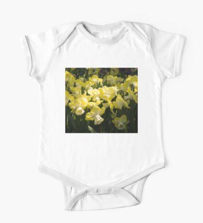 Sunny Daffodil Garden - Enjoying the Beauty of Spring One Piece - Short Sleeve
