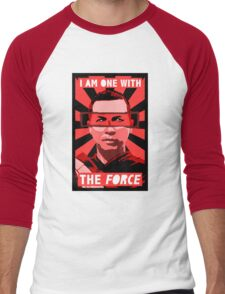 I am one with the force Men's Baseball ¾ T-Shirt