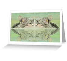BEAST#2 Hippo Greeting Card