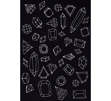 doodle crystals Photographic Print