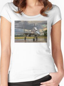 Flanker in the Rain Women's Fitted Scoop T-Shirt