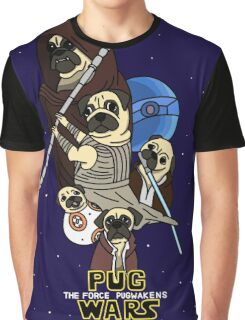 Pug Wars: The Force Pugwakens Graphic T-Shirt