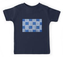 Blue terrycloth texture abstract Kids Tee