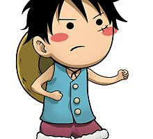 Chibi Luffy Small One Piece by DO3Y