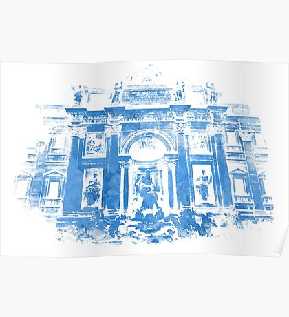 Rome - The Trevi Fountain Poster