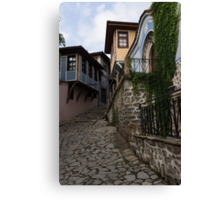 Steep and Twisting Cobblestone Street Canvas Print