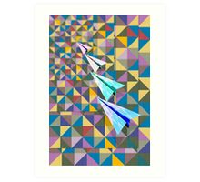 Paper Airplane 70 Art Print