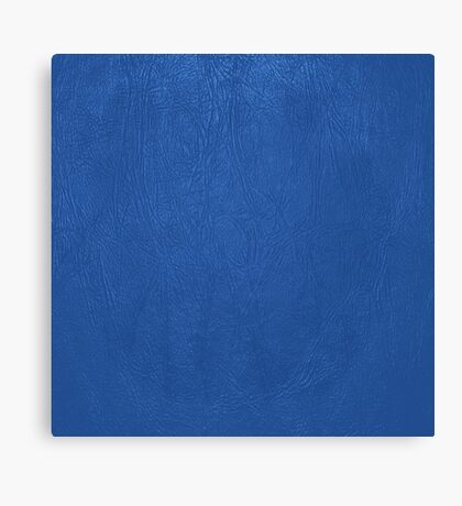 Blue Leather Texture Canvas Print