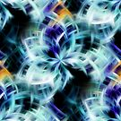 Swirling Shades Of Blue Abstract by SmilinEyes