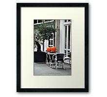 Colour on the table Framed Print