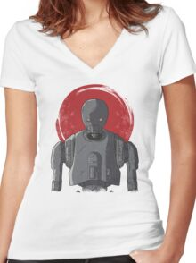 One Droid Women's Fitted V-Neck T-Shirt