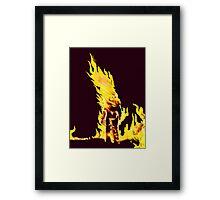BURNING MAN (Flames) Framed Print