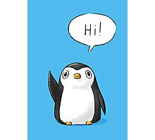 Hi Penguin Photographic Print