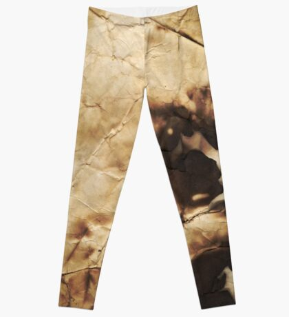 Burned paper Leggings