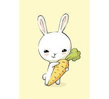 Bunny Carrot 2 Photographic Print