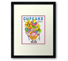 CUPCAKE : Raspberry Sunflower Seed Framed Print
