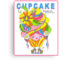 CUPCAKE : Raspberry Sunflower Seed Canvas Print