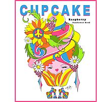CUPCAKE : Raspberry Sunflower Seed Photographic Print