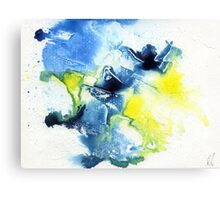 Blue and yellow abstract Canvas Print