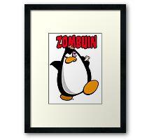 Zombuin - The Zombie Penguin Framed Print