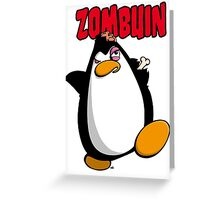 Zombuin - The Zombie Penguin Greeting Card