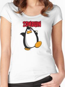 Zombuin - The Zombie Penguin Women's Fitted Scoop T-Shirt