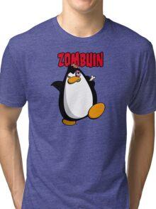 Zombuin - The Zombie Penguin Tri-blend T-Shirt