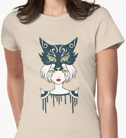 Wolf Tribe Womens Fitted T-Shirt