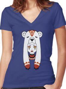 Polar Tribe Women's Fitted V-Neck T-Shirt