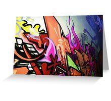 Graffiti Wall Greeting Card
