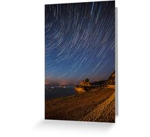 Bouley Bay Startrails Greeting Card