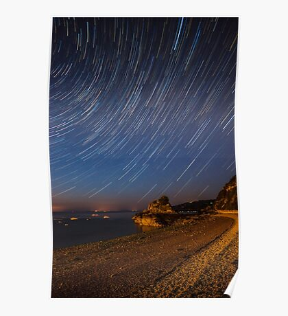 Bouley Bay Startrails Poster