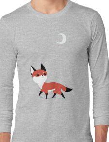 Moon Fox Long Sleeve T-Shirt