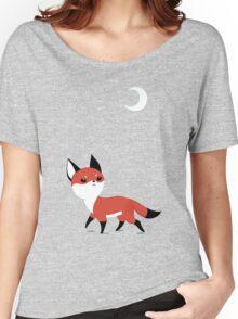 Moon Fox Women's Relaxed Fit T-Shirt