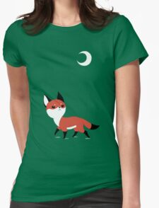 Moon Fox Womens Fitted T-Shirt