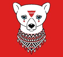 Tribal Bear Womens Fitted T-Shirt