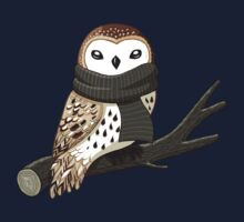 Winter Owl One Piece - Short Sleeve