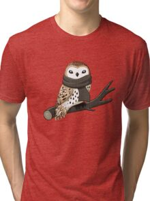 Winter Owl Tri-blend T-Shirt